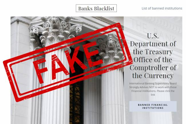Do Not Trust Banks Blacklist.com